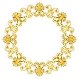 Guld- utsmyckat Royaltyfria Bilder