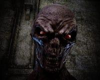 illustration 3D av en kuslig likätande ond ande Arkivfoto