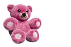 illustration 3D av en rosa päls- nallebjörn Arkivbilder