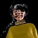 illustration 3D av en Toon Girl Fotografering för Bildbyråer