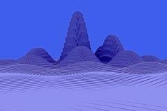 illustration 3d av ett bergigt landskap Royaltyfri Bild