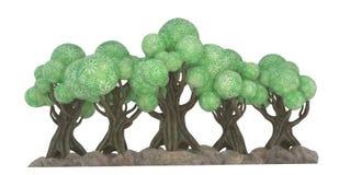 illustration 3D av ett cartoony av träd Royaltyfri Foto