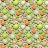illustration 3D av färgrika ballonger Arkivfoton