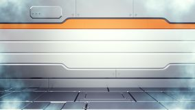 illustration 3d av för fryslantgård för science fiction den lågtemperatur- inre för korridor stock illustrationer