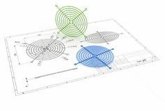 illustration 3D av fangallret Arkivfoto