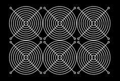 illustration 3D av fangallret Arkivbild
