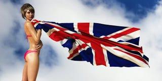 illustration 3d av flaggan royaltyfri illustrationer
