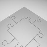illustration 3D av Grey Puzzles Royaltyfri Bild