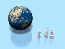 illustration 3D av jorden royaltyfri illustrationer