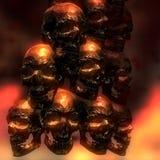 illustration 3D av kusliga skallar Royaltyfri Bild