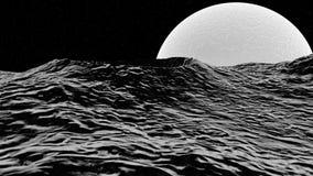 illustration 3D av måneyttersida Fotografering för Bildbyråer