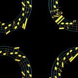 illustration 3d av musikaliska anmärkningar Royaltyfri Bild