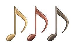 illustration 3d av musikanmärkningen vektor illustrationer