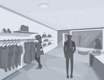 illustration 3D av shoppare i lager Royaltyfri Fotografi