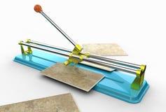 illustration 3D av tegelplattaskäraren Royaltyfri Bild