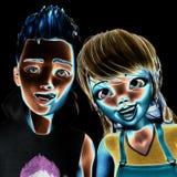 illustration 3D av Toon Kids Royaltyfria Foton