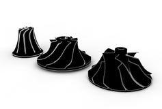 illustration 3D av turboladdareimpellers stock illustrationer