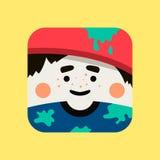 Illustration d'avatar d'artiste Le peintre à la mode a ajusté l'icône avec des ombres dans le style plat Image libre de droits