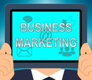 Illustration d'Business Marketing Means Company SEM 3d Image stock