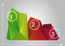 Illustration of the 3D charts. Simple art for web and print design appealing for abstract theme Stock Photography