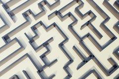 Illustration 3d cocrete Labyrinth, komplexes Lösen- von Problemenkonzept Stock Abbildung