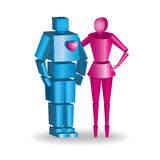 Illustration of 3d couple in vector fully scalable hugging Royalty Free Stock Photos