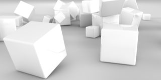illustration 3D Cubes abstraits sur un fond clair Photographie stock
