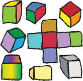 illustration 3d cubes, design elements Royalty Free Stock Photo
