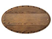 Illustration 3d d'isolement par enseigne en bois de vintage Photographie stock libre de droits