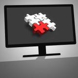 illustration 3d d'ordinateur de bureau noir Photographie stock libre de droits