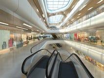 illustration 3d d'un centre commercial Image libre de droits