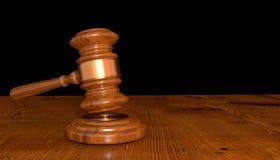 illustration 3D d'un marteau de juge Image libre de droits