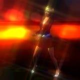 illustration 3D d'une fille de danse illustration libre de droits