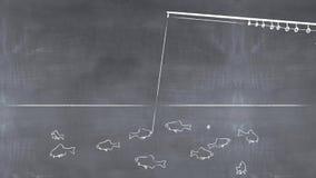illustration 3D d'une tige et d'un poisson Photographie stock libre de droits