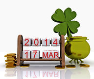Sts Patrick dag - 3D Royaltyfri Bild