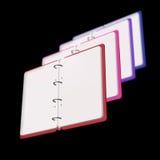 illustration 3d de bloc-notes vide Image stock