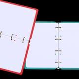 illustration 3d de bloc-notes vide Photographie stock libre de droits