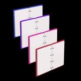 illustration 3d de bloc-notes vide Photographie stock