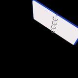 illustration 3d de bloc-notes vide Photos stock