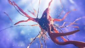 illustration 3d de cellule neurale Photos stock