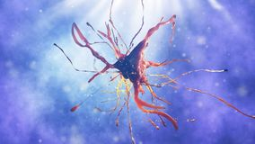 illustration 3d de cellule neurale Image libre de droits