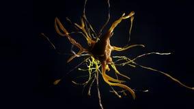 illustration 3d de cellule neurale Images stock
