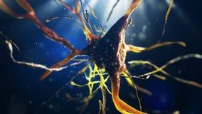 illustration 3d de cellule neurale Image stock