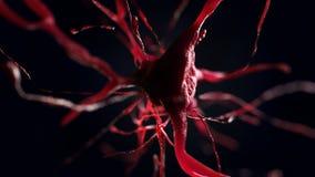 illustration 3d de cellule neurale Images libres de droits