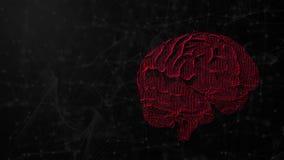 illustration 3d de cerveau numérique sur le fond futuriste, le concept de l'intelligence artificielle et les possibilités d'espri illustration de vecteur