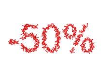 illustration 3D de 50 cinquante pour cent - remise Photos stock