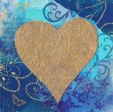 Illustration d'or de coeur illustration de vecteur