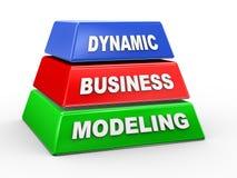 modélisation dynamique des affaires 3d Images stock