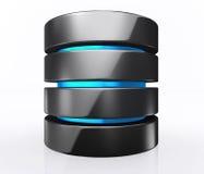 illustration 3D de concept de stockage de base de données, calcul de nuage illustration libre de droits