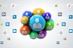 illustration 3d de concept social de media Photo libre de droits